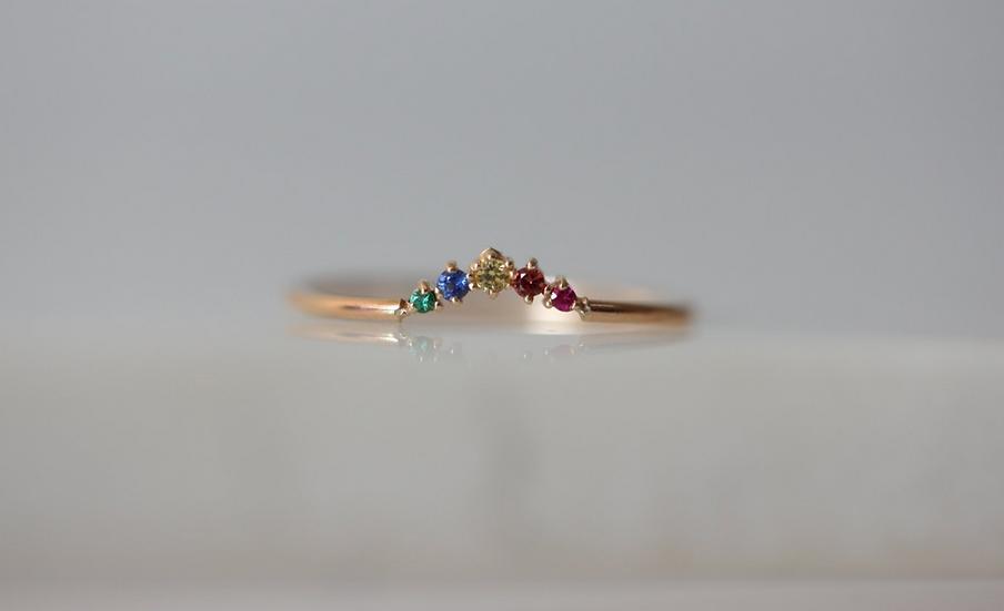Ballerina Rainbow Ring - Gjenmi