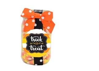 Pint Jar Halloween Candy