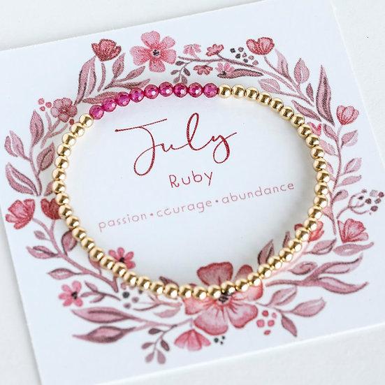 July Birthstone Bracelet