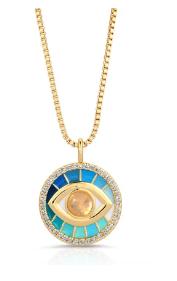 Prism Necklace - Blue/Moonstone