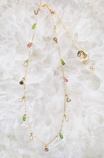 Long Candy Gem Necklace