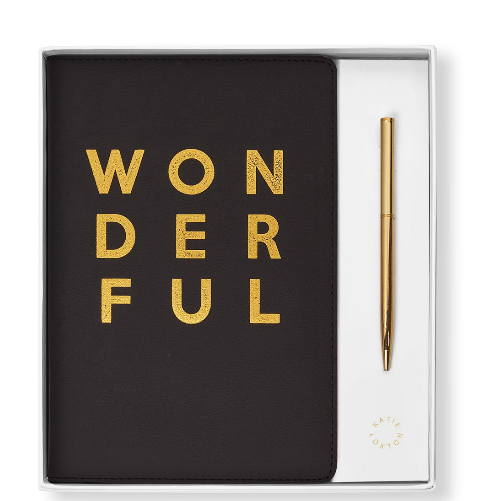 Wonderful a Boxed Notebook and Pen Set