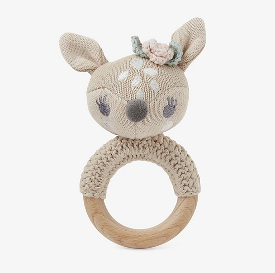 Wooden Ring Rattles