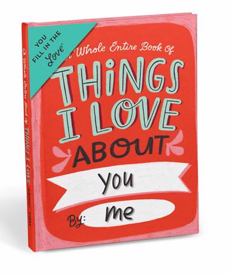 Things I love About You - Fill In Book