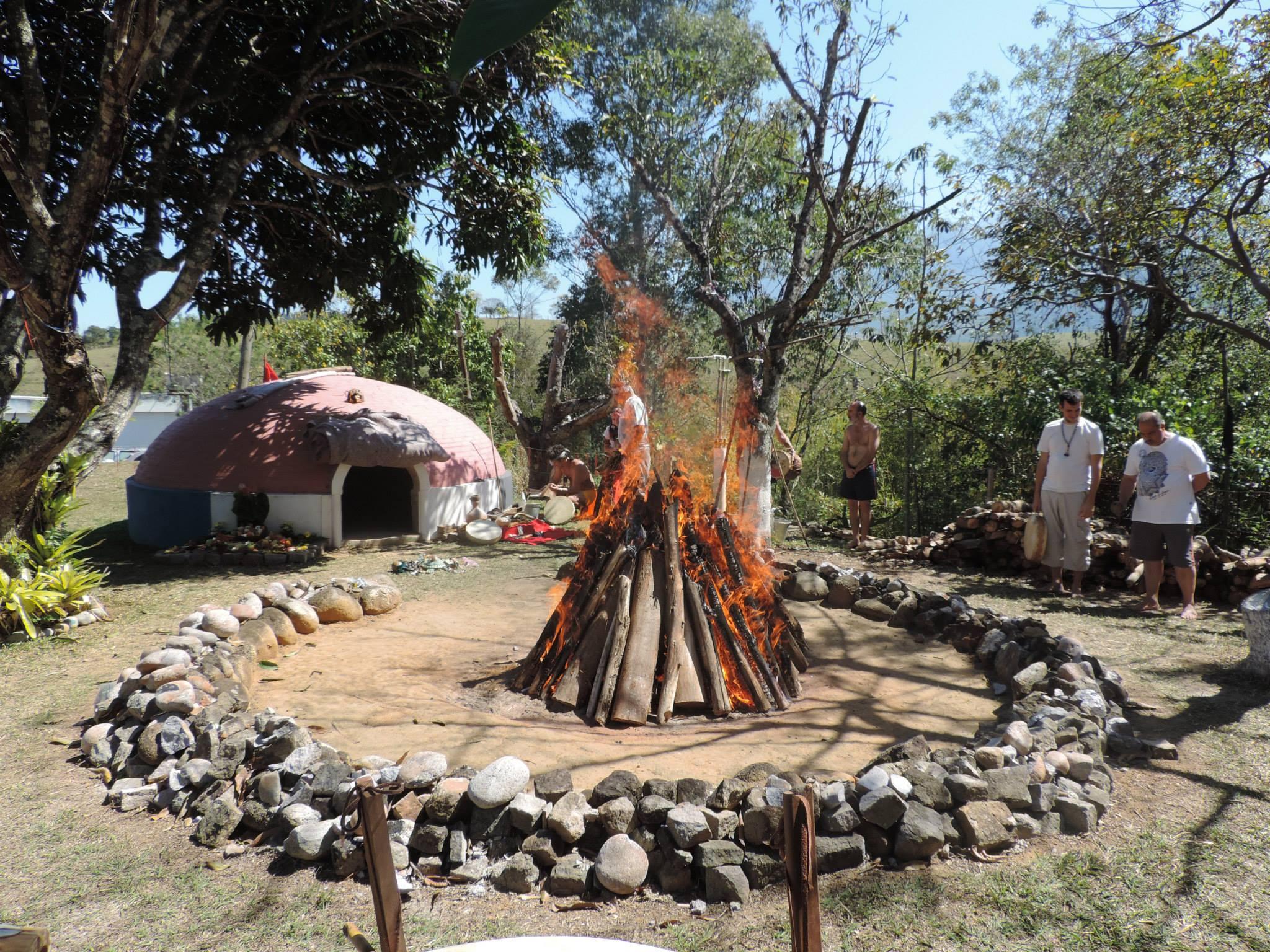 Fogo sagrado e o Temazcal
