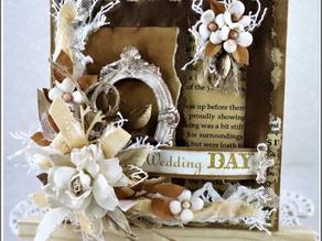 Eco style Wedding Day Card/Kartka Ślubna w stylu eko.