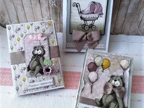 Mini Album and a Card for a Baby Girl.