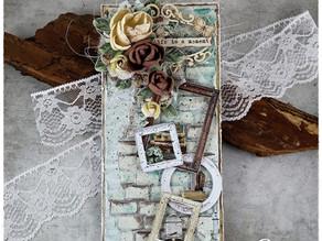 Life is a moment - vintage card/ Życie jest chwilą - kartka w stylu vintage.