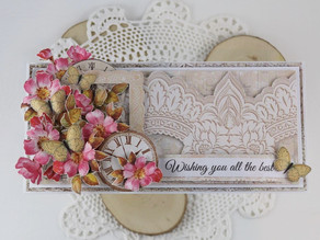 Card made only with scarpbooking papers!