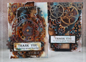 Thank you cards fill of rust!