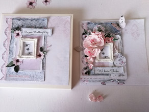 Soft pink Wedding Day Card!