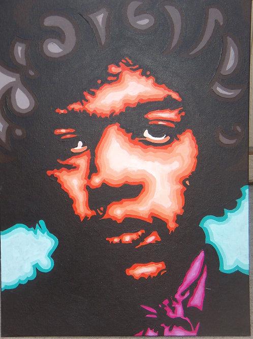 Jimi Hendrix 18x24