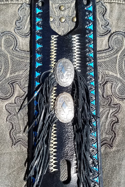 Tank Strap - Southwest Black and Blue