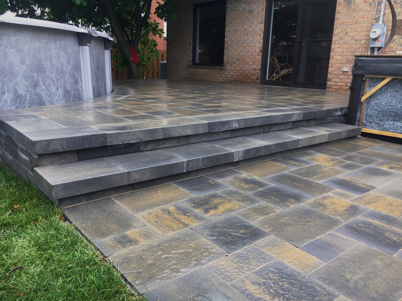 Uni-stone landing & patio