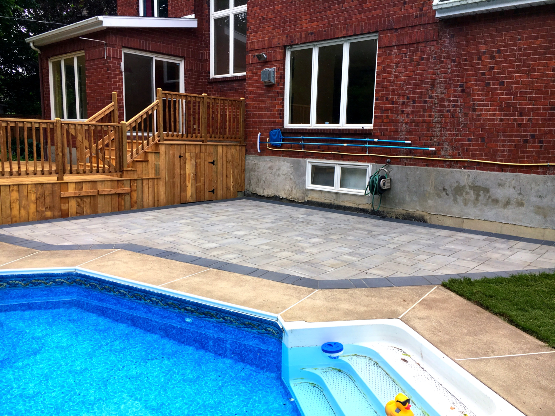 Uni-stone poolside patio