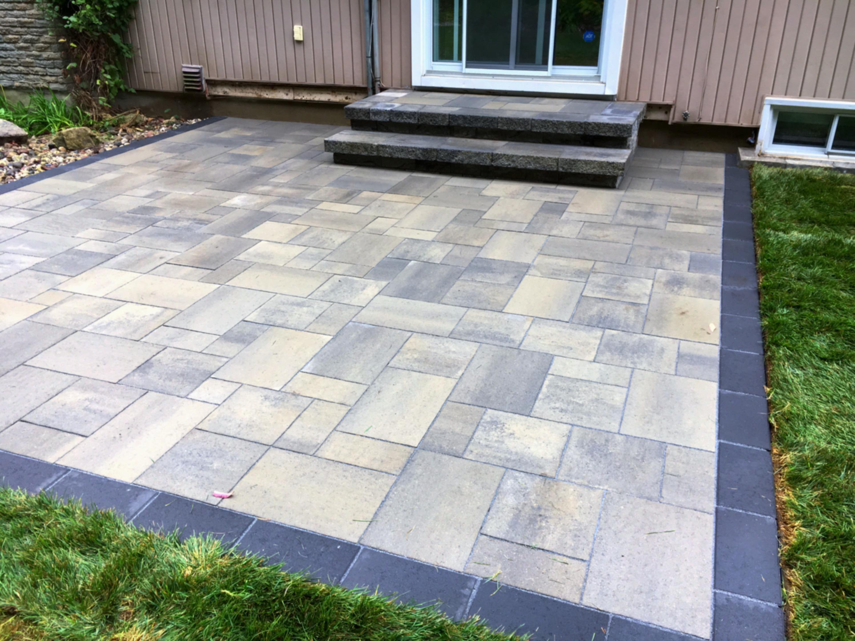 Uni-stone patio & landing