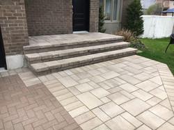 Uni-stone landing and stairs