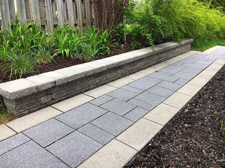Uni-stone walkway & retaining wall