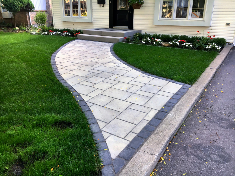 Uni-stone walkway & landing