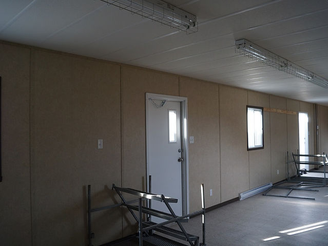 Interior mobile office trailers 12' x 52'