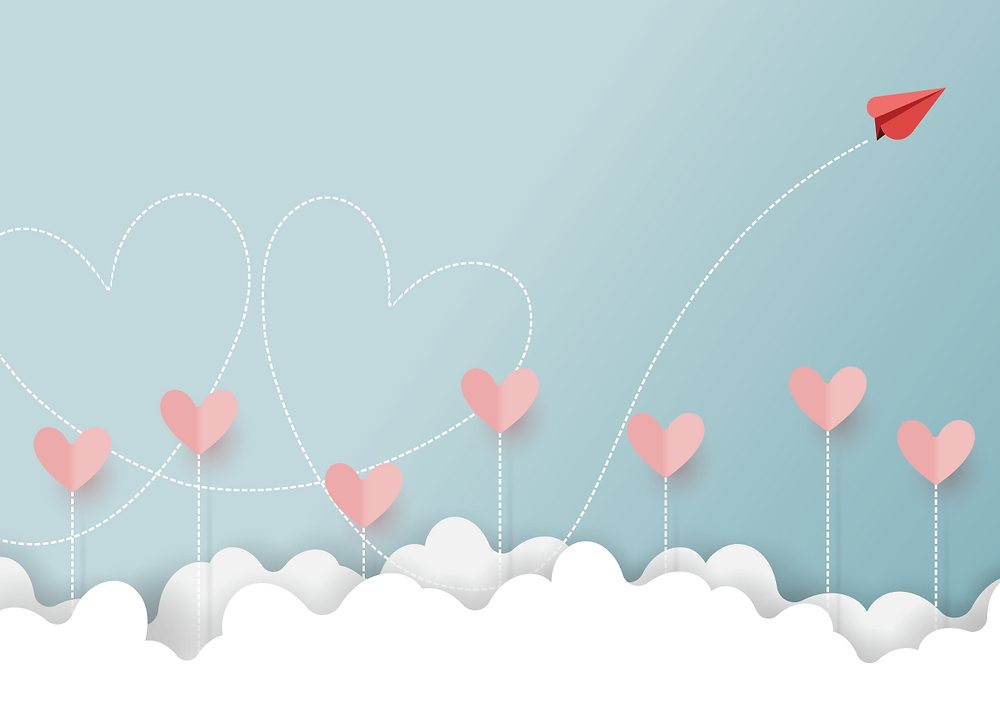 hearts & clouds, love