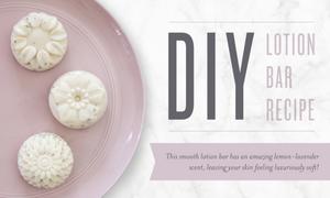 Lavender and lemon lotion bar recipe