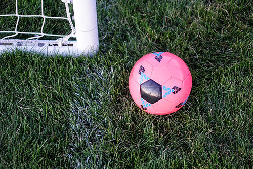 Roze voetbal