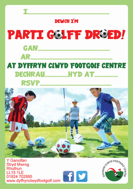 Parti Golff Droed WELSH
