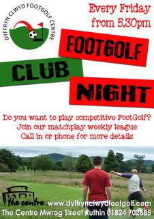 DCFC Club Night Poster