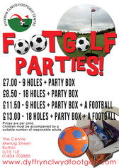 Footgolf Parties