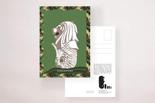 Army Merlion Postcard