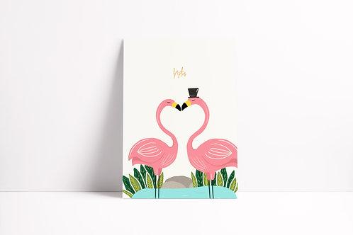 Kissing Flamingos