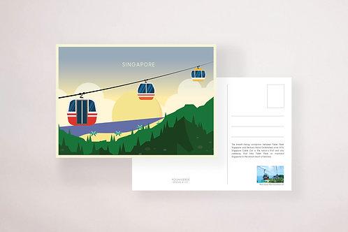Cable Car Sentosa Postcard