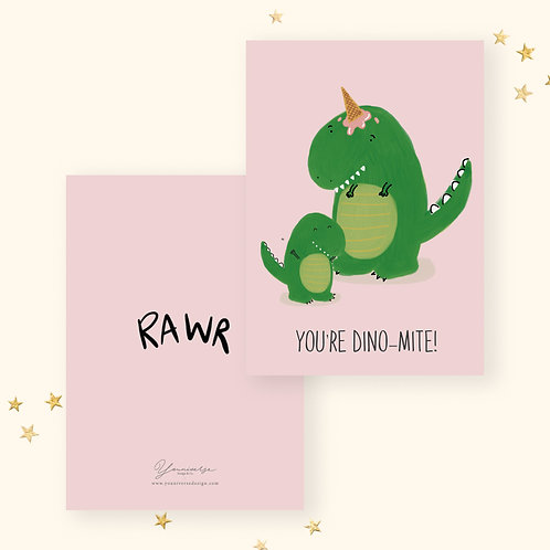 Dynamite Greeting Card