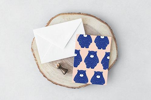 Pink Bear Greeting Card