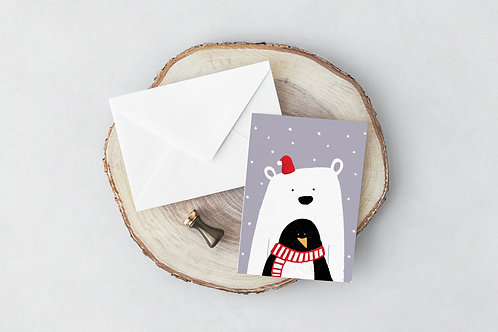Polar-Pengy Greeting Card