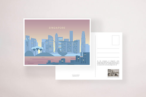 Marina Bay Sunset Postcard