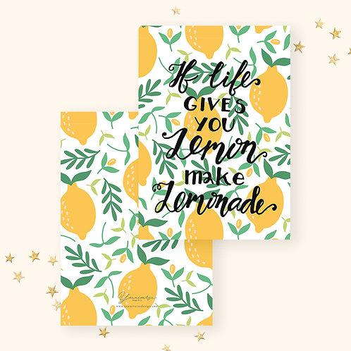 Lemonade Life Greeting Card