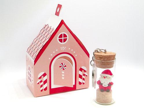 CHRISTMAS SANTA/SNOWMAN KEYCHAIN
