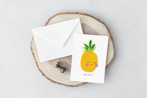 Fine-Apple Greeting Card