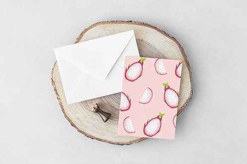 Dragonfruit Greeting Card