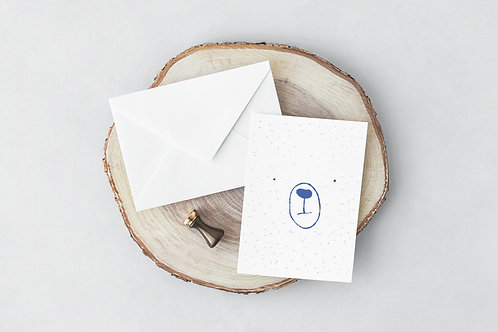 Blur Bear Greeting Card