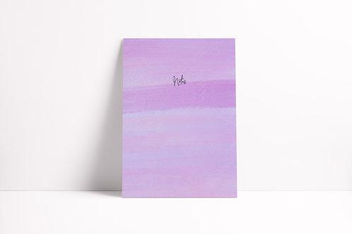 Lavender Notebook