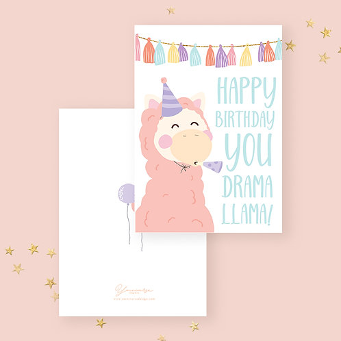 Happy Birthday(Party Llama)