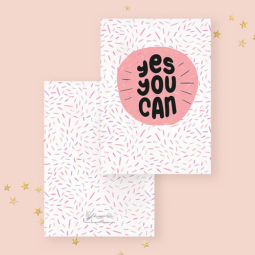 Yes You Can! Greeting Card
