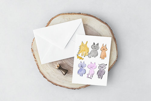 Sketch-a-Cat Greeting Card
