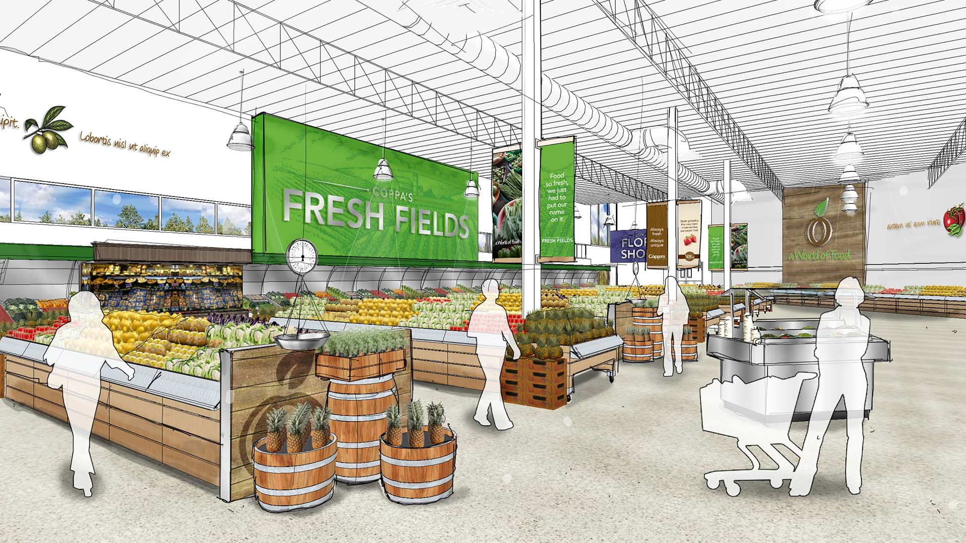 Produce Department Rendering