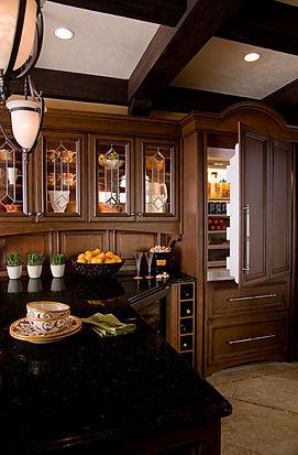 Dark Brown Remodeled kitchen