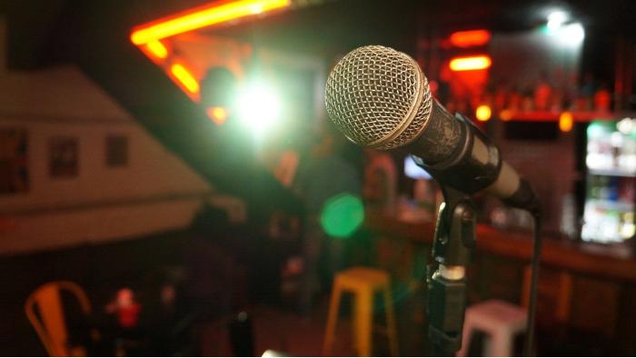 מיקרופון מול קהל
