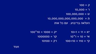 """גימטרייה בהשראת התנ""""ך"""